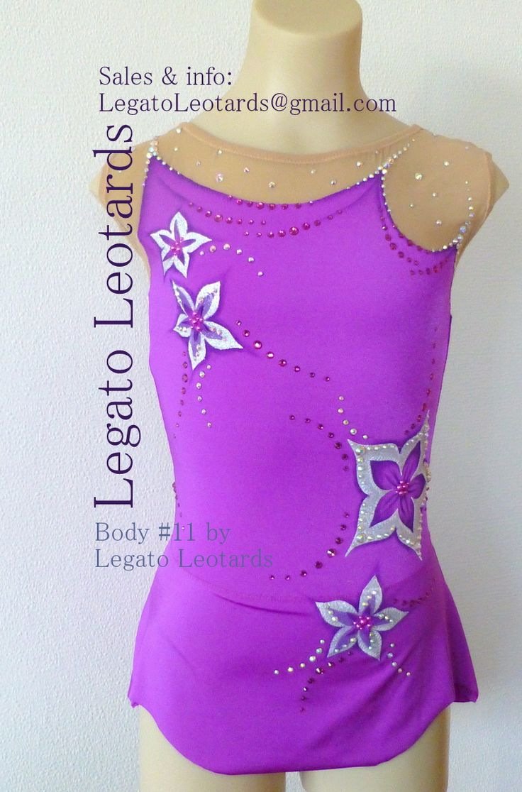 From #LegatoLeotards on facebook.  #purpleleotard #rhythmic leotard