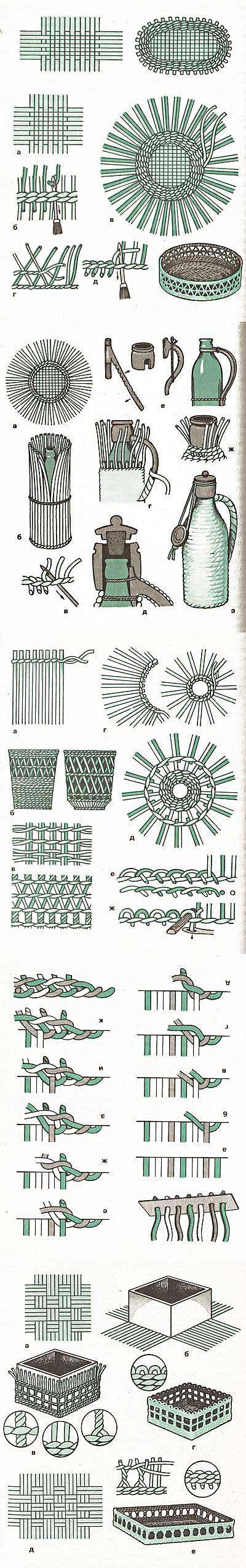 Ещё техники и виды плетения для газетных трубочек.. Обсуждение на LiveInte   Плетение из газет: