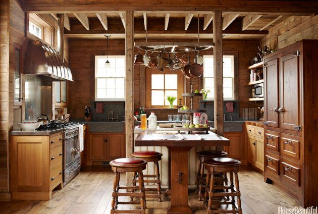 Designer Mick De Giulio turned a former stable into this sophisticated farmhouse-style kitchen.