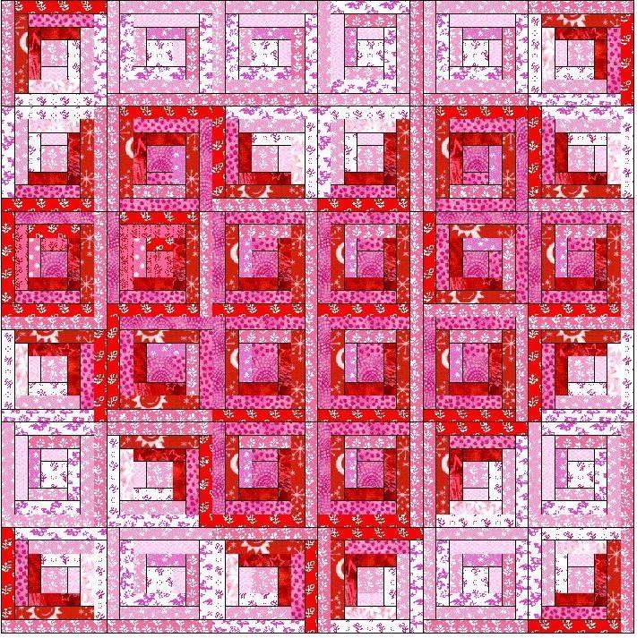 log cabin heart - I always love a log cabin quilt