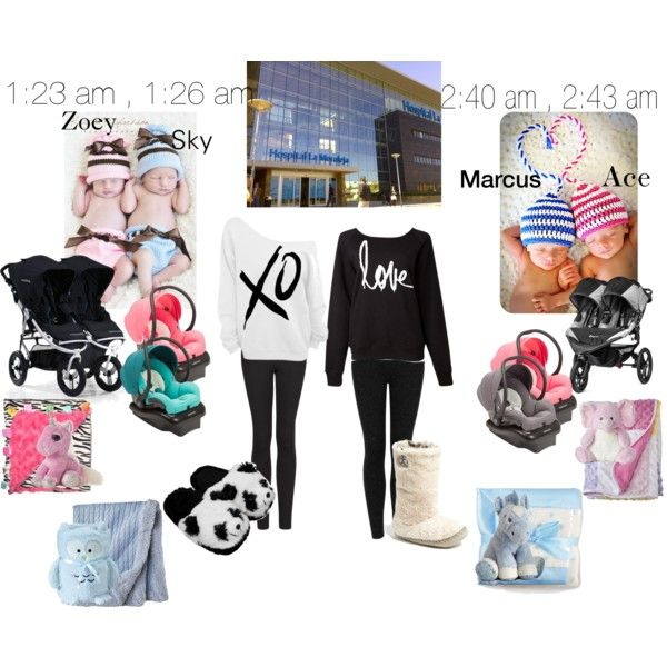 """Brea and i on our way out of the hospital"" by nmdillon on Polyvore"