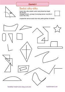 belajar matematika anak kelas 3 SD, geometri sudut siku-siku