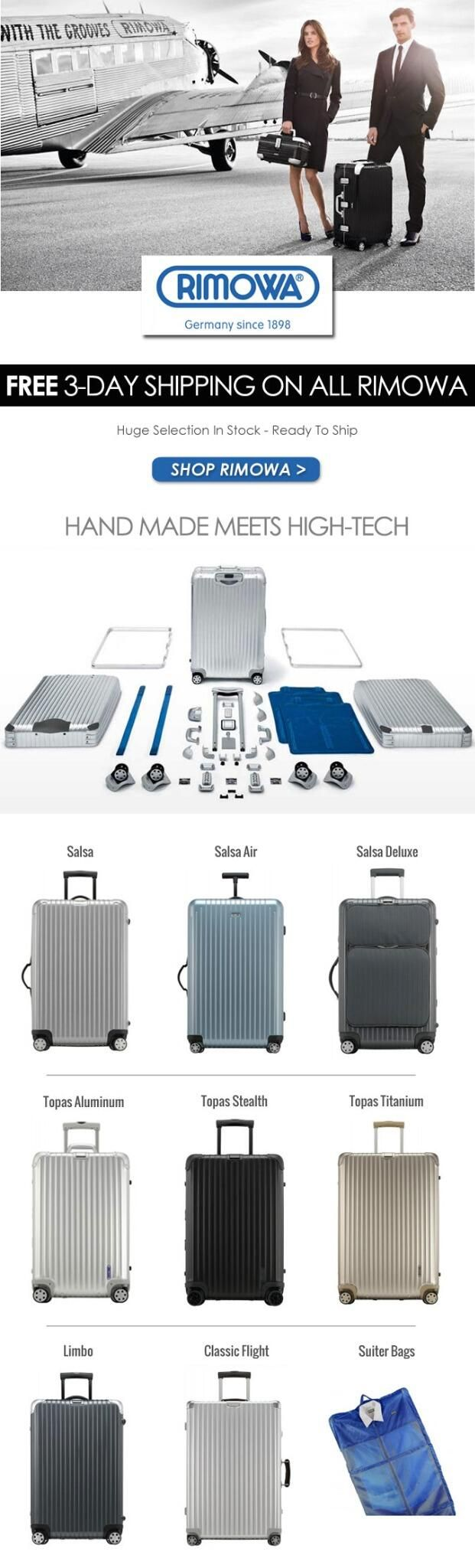 FREE 3-DAY SHIPPING ON ALL RIMOWA! #Freeshipping #Topoftheline #Luggage @RIMOWA_NA pic.twitter.com/CZOKgxduxq