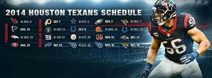 2014 Houston Texans Schedule
