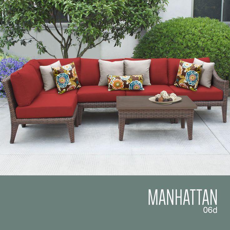 Manhattan 6 Piece Outdoor Wicker Patio Furniture Set 06d