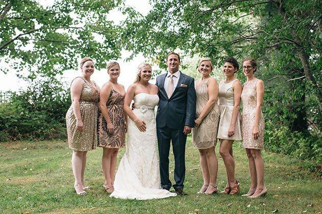 Maine Real Wedding Photos: A Coastal DIY Wedding in Georgetown Island | Brides