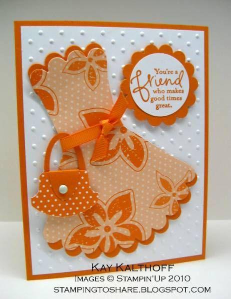 Scallop dress and purse punch art. Link to tutorial can be found here: http://gretchenbarron.typepad.com/my_weblog/2010/05/a-flirty-little-sundress-and-a-matching-purse.html