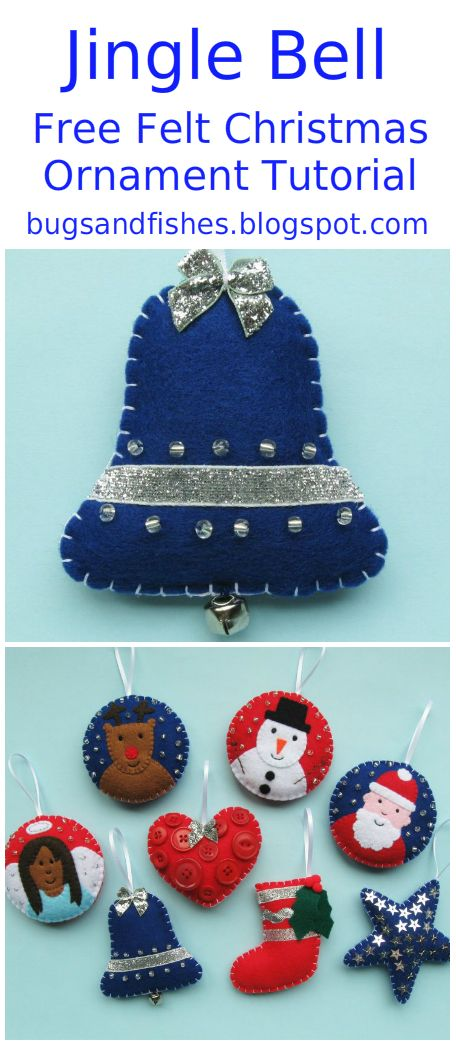 Decorate your Christmas tree with jingle bells, with this free felt ornament sewing tutorial.