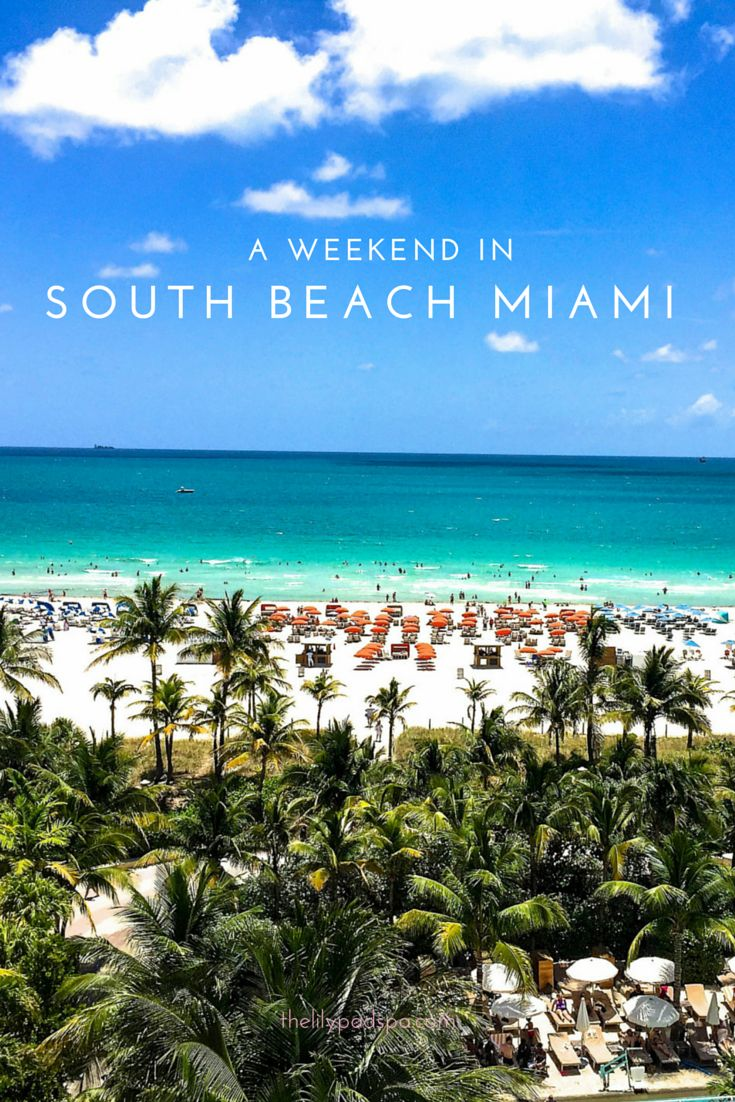 A Weekend in South Beach Miami