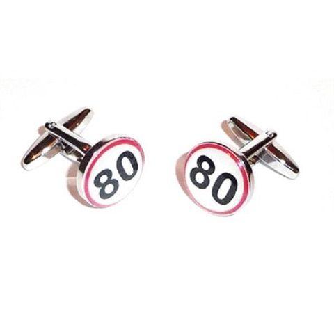 80th Birthday Road Sign Cufflinks Price: 10.99 GBP
