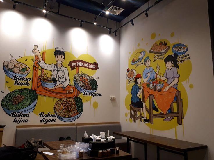 jasa mural, mural, jasa lukis dinding, jasa 3d trick art, lukisan dinding 3d, jasa dekorasi, lukisan dinding, mural cafe, mural restoran, jasa mural cafe, jasa mural restoran, mural di Bakmi Gocit Gandaria City-Mural by iMural