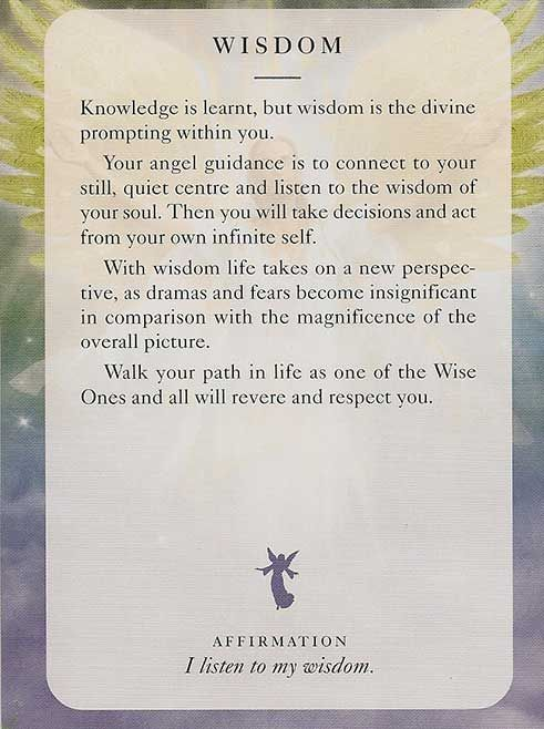 """Wisdom"" - Angel Card – Diana Cooper"