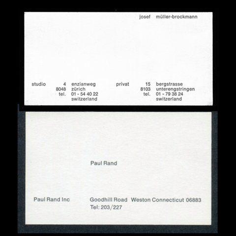 Paul Rand business card Zoom Photo