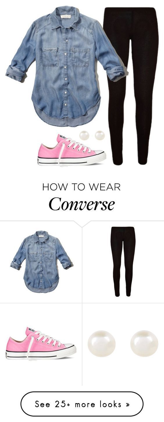 """""""Simple"""" by aweaver-2 on Polyvore featuring Abercrombie & Fitch, Accessorize and Converse:"""