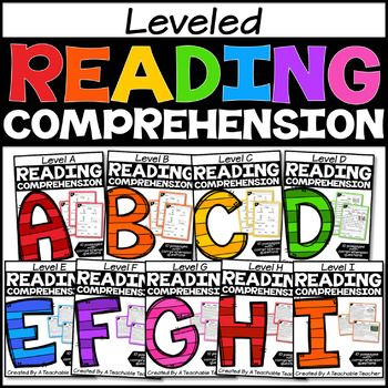 Are you looking for no prep reading passages that are leveled? This bundle will includes 10 leveled reading passages for reading levels A-I. Each reading passage also includes quick comprehension activities.