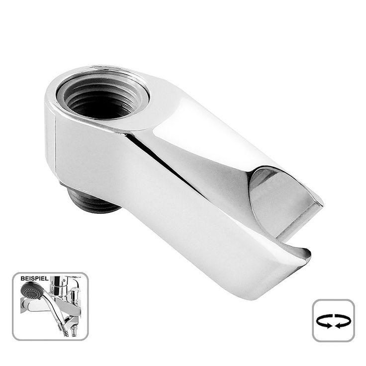 Dieser schwenkbare Duschkopfhalter ist zur Montage direkt am Brauseanschluss einer Wannen-, oder Brausearmatur gedacht, damit vermeiden Sie Bohrlöcher im Wandbereich.