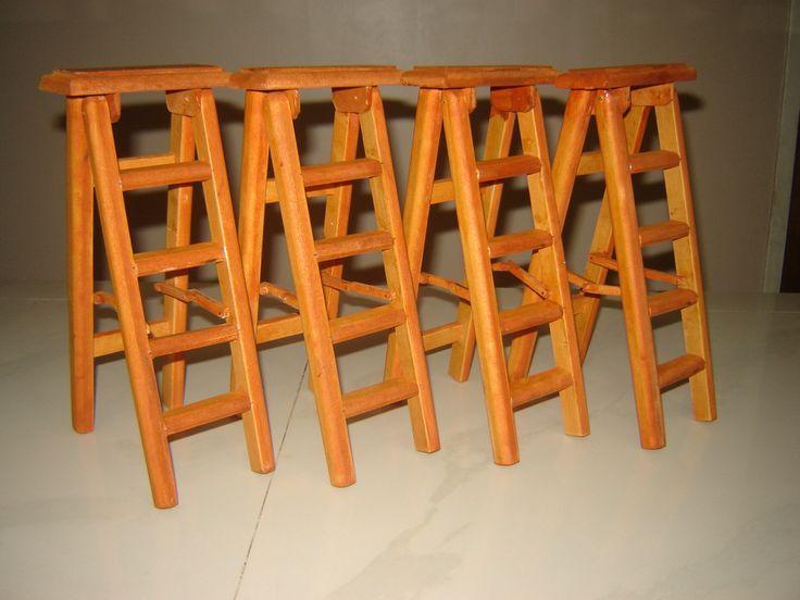 Escaleras plegables elaboradas en MDF