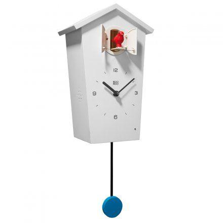 KooKoo Kuckucksuhr BirdHouse mit Vogelstimmen weiß
