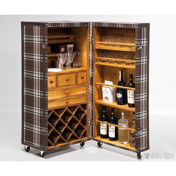 Kare Design Weinschrank Highlands 52x118 Cm Braun Kariert Weinregal By Kare