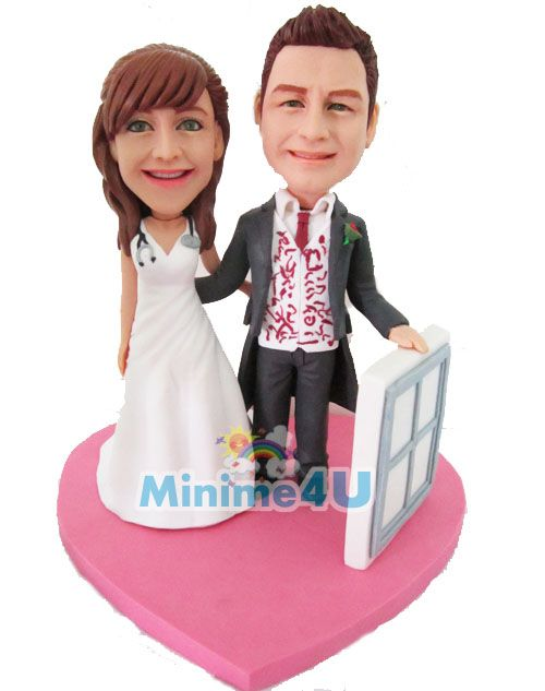 This mini me template was built for a couple that the groom is a windows installer, and to make it unique, the groom holds a windows frame in his hand with holds the bride with another hand.