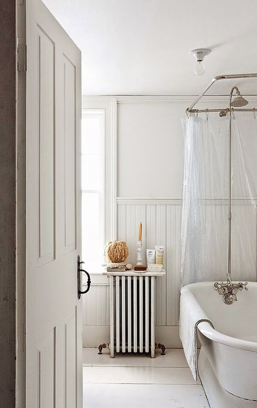 Simple White Washed Bathroom Decor. / Sfgirlbybay