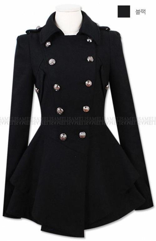 Womens military pea coat