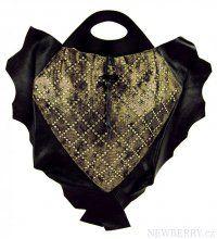 Luxusní kožená kabelka fasco Berlin Fish Design 68635 zlatá