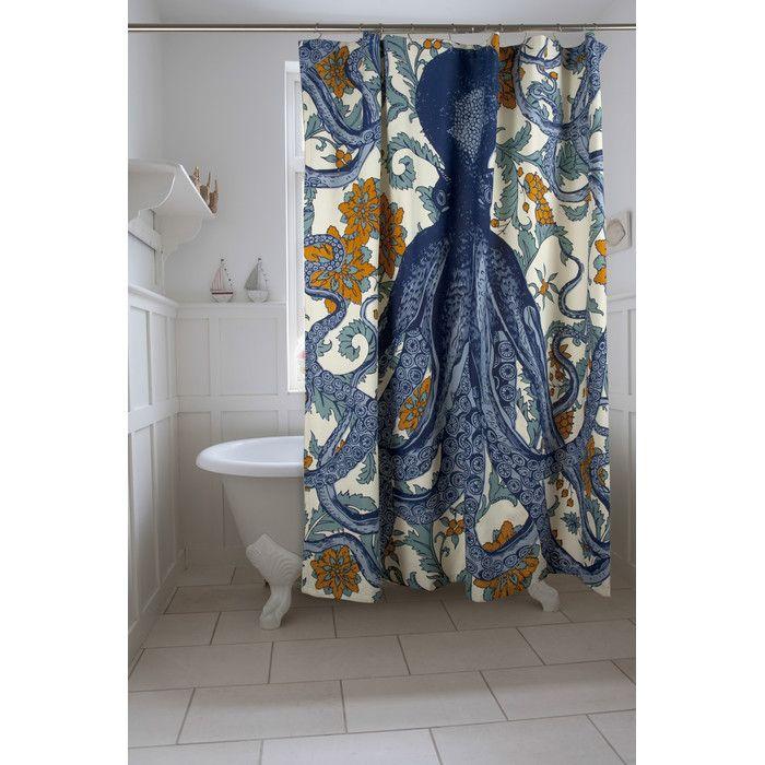 Thomas Paul Vineyard Octopus Shower Curtain | Wayfair