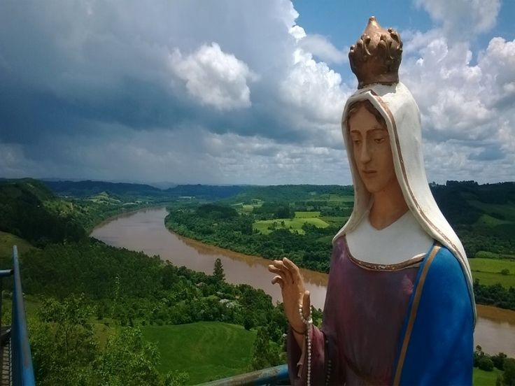 Beleza e religiosidade atraem visitantes ao Santuário de Nossa Senhora do Caravaggio em Esperança do Sul