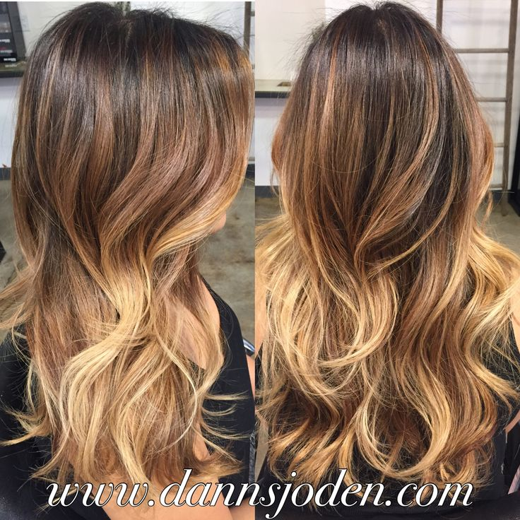 Bronde balayage color melt  loose curls. Hair by Danni in Denver,