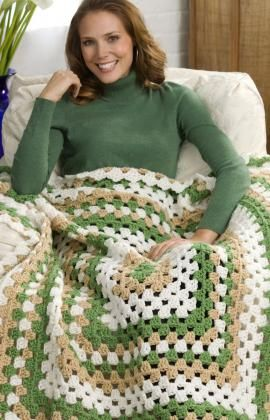 Weekend-Wonder Giant Granny Square Throw