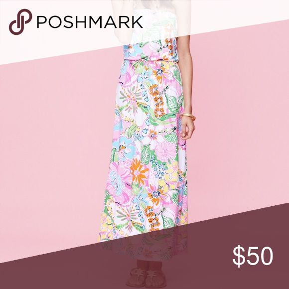 NWT Lilly Pulitzer for Target Maxi New with tags!! Searched all over to find this and never wore it! Cute strapless maxi in gorgeous Nosey Posey print! Lilly Pulitzer for Target Dresses Maxi