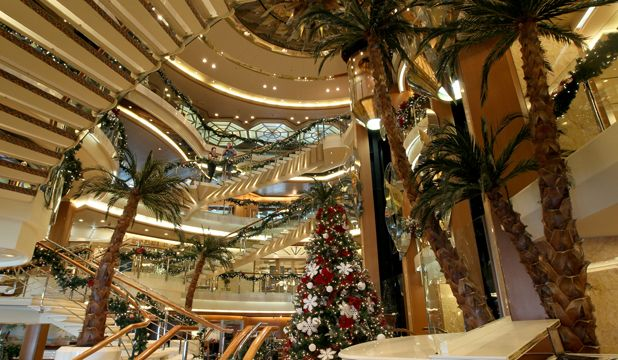 Interior of Sea Princess cruise liner during the holidays..<3