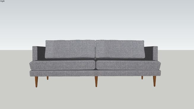 Large preview of 3D Model of Preston Sofa
