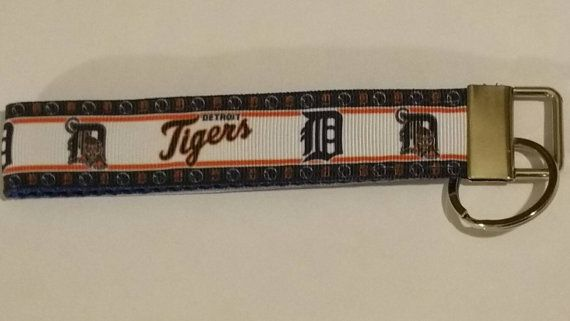 Check out this item in my Etsy shop https://www.etsy.com/ca/listing/243873410/detroit-tigers-keyfob-wristlet-keychain