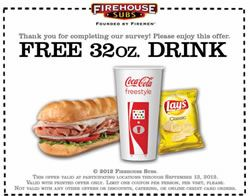 For most of us it has been WAY too hot this summer and a cool refreshing drink is just the right thing to keep you cool. The only thing better than a cool drink, is a free cool drink! Now until September 13, 2012 you can use this Firehouse Subs coupon to receive a free 32oz. drink. We recommend having one of their delicious subs as well but if you feel like just stopping by to redeem your free drink we cannot find anything in the terms and conditions of this coupon
