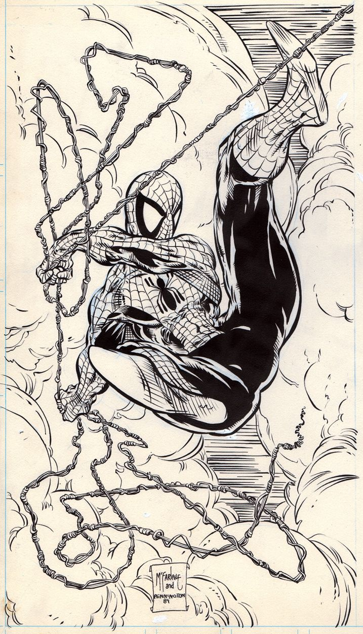 Spider-Man Puzzle, The Todd McFarlane Trading Card Set(1989), in Rabid Ferret's Comic Art Gallery Room