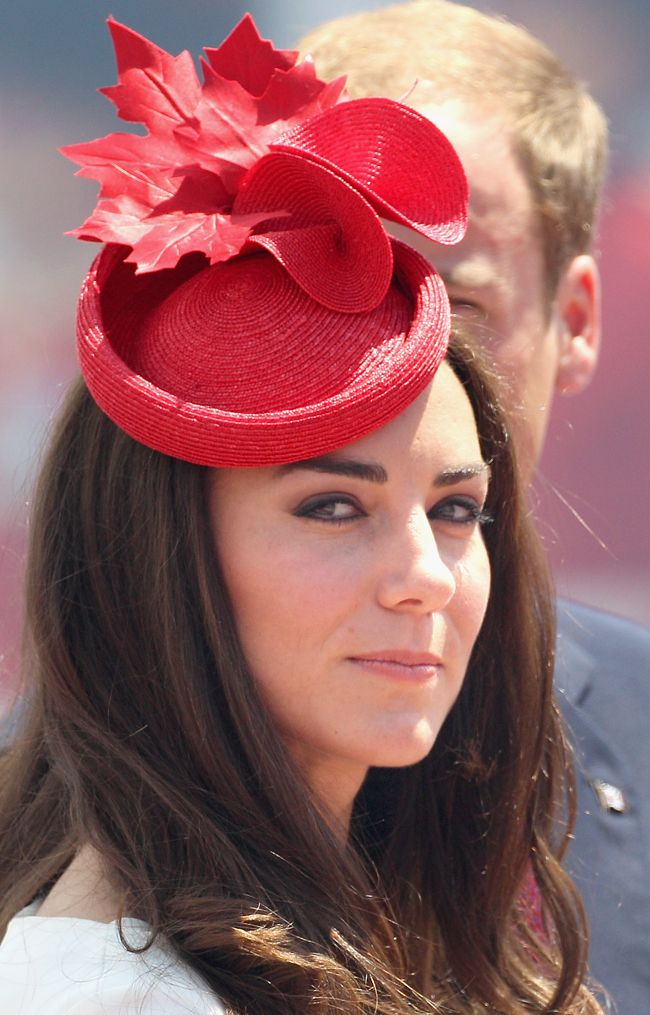 Kate Gets Festive, Wears Red Maple Leaf Hat In Honor Of Canada Day July 1st, 2011
