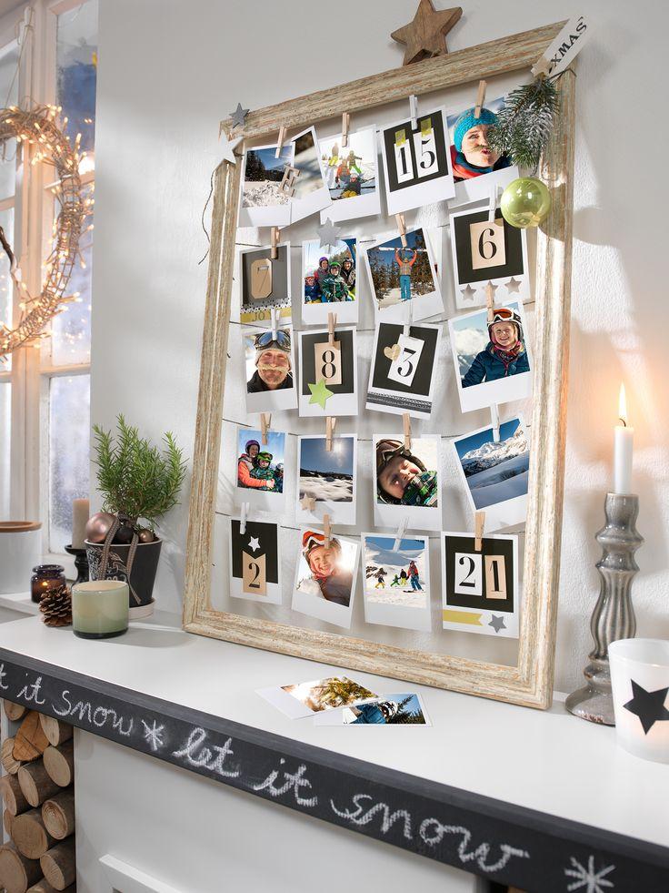 Unsere Retro Prints als dein Adventskalender. Eine tolle Geschenkidee zum selber machen. Hier findest du die Retro Prints http://www.cewe-fotoservice.de/fotos/retro-prints.html