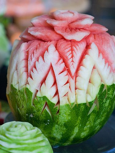 The Thai Art of Fruit Carving.