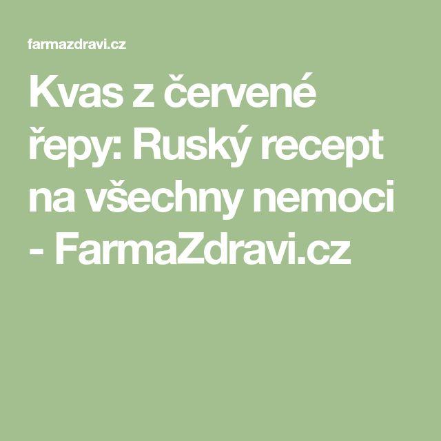 Kvas z červené řepy: Ruský recept na všechny nemoci - FarmaZdravi.cz