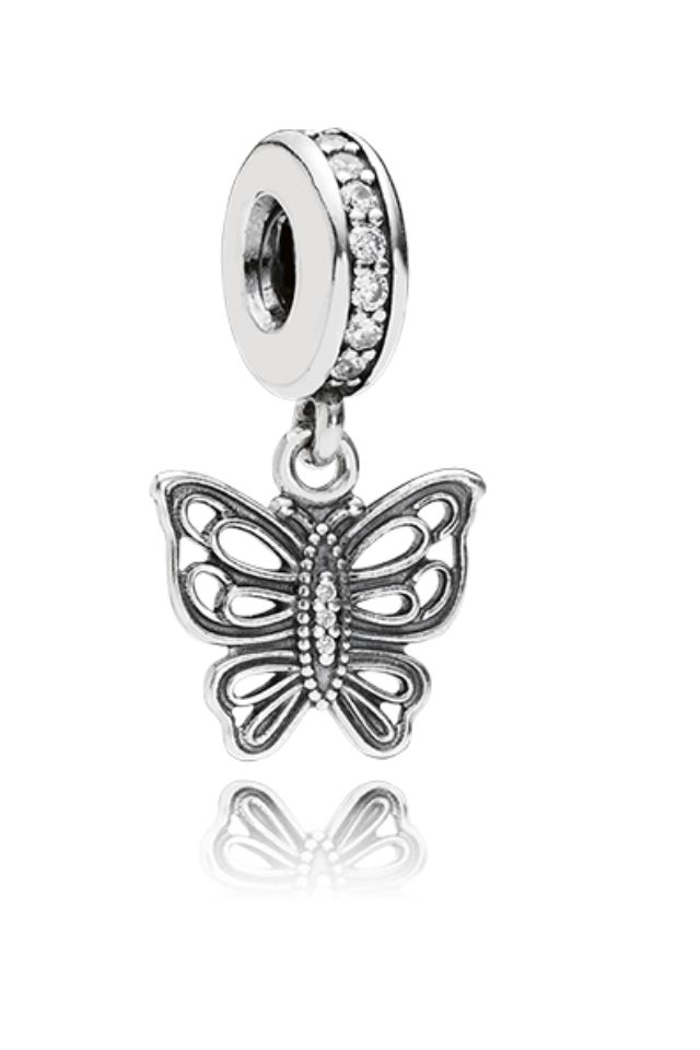 Pandora butterfly dangle charm