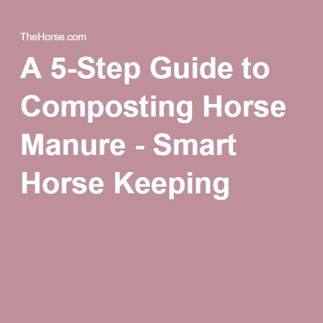A 5-Step Guide to Composting Horse Manure - Smart Horse Keeping