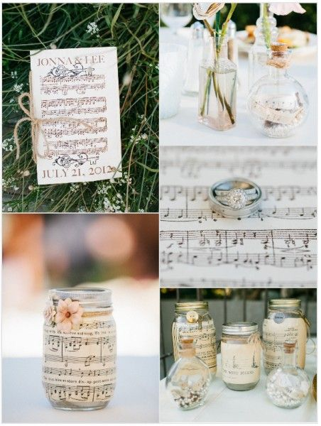 Inspirational Wedding Ideas #76: Music Theme - see more inspiration at diyweddingsmag.com #diywedding