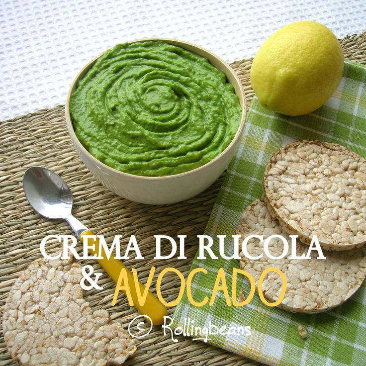 Crema di rucola e avocado (vegan)