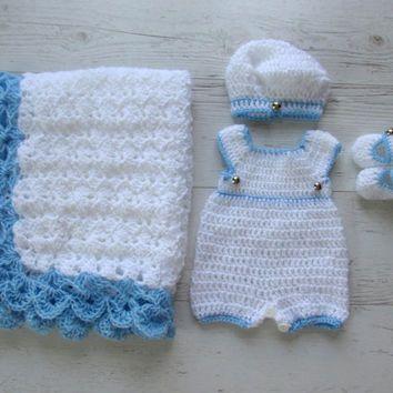 newborn boy romper crochet free pattern - Google Search
