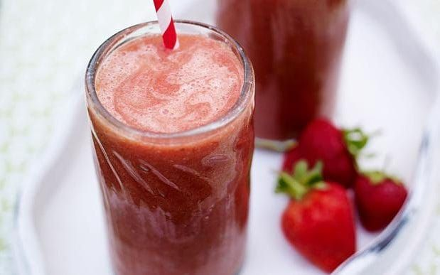 Strawberry and mint smoothie (maybe leave out the basil :/)