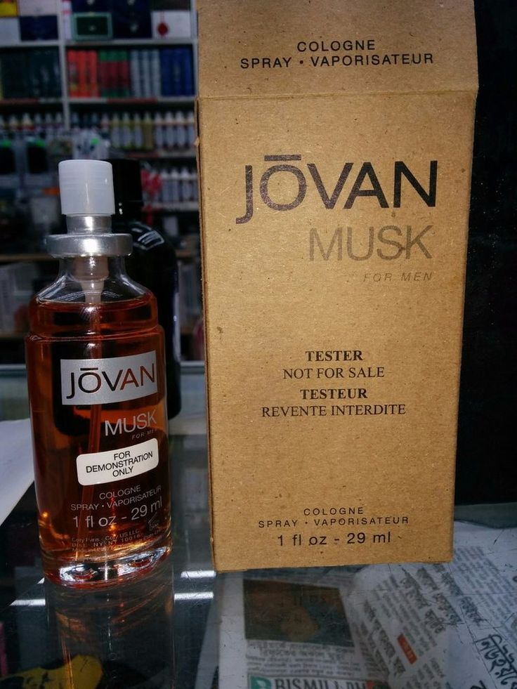 Jovan Musk by Coty for Men's Cologne Spray 1 oz/29 ml, Brand New Tester In Box #Coty