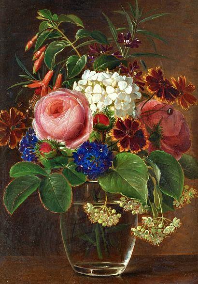 Johan Laurentz Jensen Still Life with Flowers 19th century