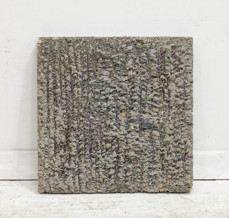 """Davina Semo [USA] (b 1981) ~ """"HER WILLINGNESS WHICH HE'D PRESUMED TO UNDERSTAND AND OF WHICH HE KNEW NOTHING"""", 2013. Spray paint transfer on reinforced concrete (40.6 x 40.6 x 4,5 cm). 